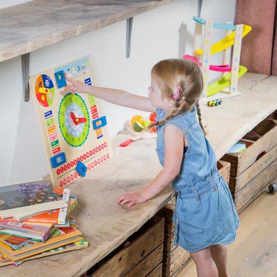 2. New classic Toys- Houten kalenderklok (educatieve spelletjes voor kinderen)