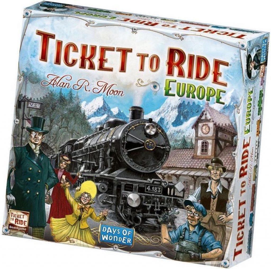 1. Ticket to Ride Europe - Bordspel